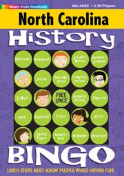 North Carolina History Bingo Game!