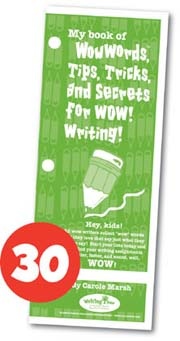 My Book of WowWords, Tips, Tricks, and Secrets for Wow Writing! - 30 Pack