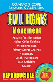 Civil Rights Movement – Common Core Lessons & Activities