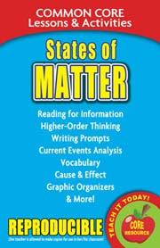 States of Matter – Common Core Lessons & Activities