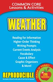 Weather – Common Core Lessons & Activities