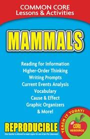 Mammals – Common Core Lessons & Activities