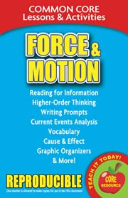 Force & Motion – Common Core Lessons & Activities