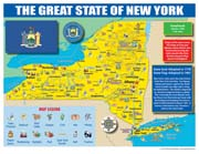 New York State Map for Students - Pack of 30