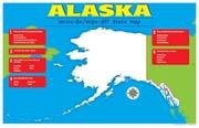 Alaska Write-On/Wipe-Off Desk Mat - State Map