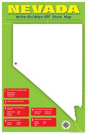 Nevada Write-On/Wipe-Off Desk Mat - State Map