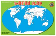 It's Your World Write-On/Wipe-Off Desk Mat - World Map