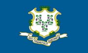 Connecticut Flag Sticker