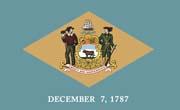 Delaware Flag Sticker