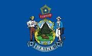 Maine Flag Sticker
