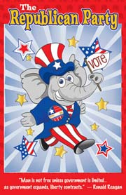 Republican Party Poster for Kids