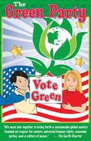 Green Party Poster for Kids