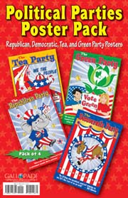 Political Parties Poster Pack of 4