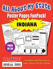 All About My State-Indiana FunPack (Pack of 30)