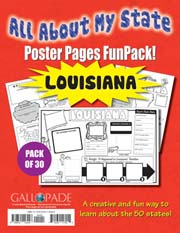 All About My State-Louisiana FunPack (Pack of 30)