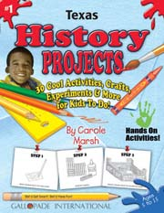 Texas History Projects - 30 Cool Activities, Crafts, Experiments & More for Kids to Do to Learn About Your State!