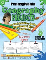Pennsylvania Geography Projects - 30 Cool Activities, Crafts, Experiments & More for Kids to Do to Learn About Your State!