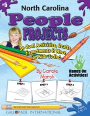 North Carolina People Projects - 30 Cool Activities, Crafts, Experiments & More for Kids to Do to Learn About Your State!