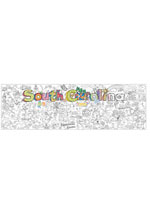 South Carolina Giant Coloring Poster (includes crayons!)