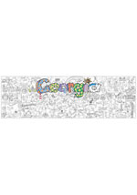 Georgia Giant Coloring Poster (includes crayons!)