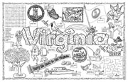 Virginia Symbols & Facts FunSheet – Pack of 30