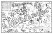North Carolina Symbols & Facts FunSheet – Pack of 30