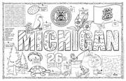 Michigan Symbols & Facts FunSheet – Pack of 30