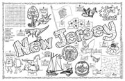 New Jersey Symbols & Facts FunSheet – Pack of 30
