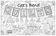 Gee's Bend Quilts Giant Coloring Poster (includes crayons!)
