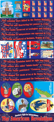 The American Revolution - America's Fight for Independence Bulletin Boards with Borders