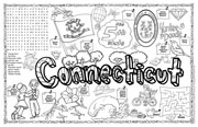 Connecticut Symbols & Facts FunSheet – Pack of 30