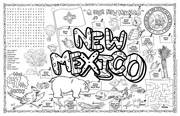New Mexico Symbols & Facts FunSheet – Pack of 30