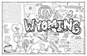 Wyoming Symbols & Facts FunSheet – Pack of 30