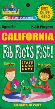 California Fab Facts Fast Card Game