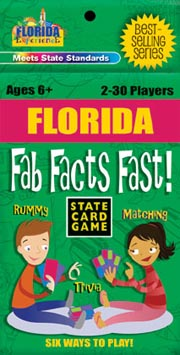 Florida Fab Facts Fast Card Game