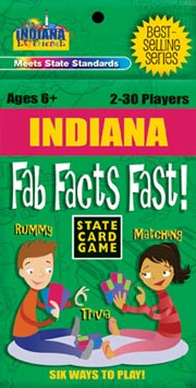 Indiana Fab Facts Fast Card Game