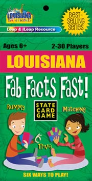 Louisiana Fab Facts Fast Card Game