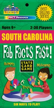 South Carolina Fab Facts Fast Card Game