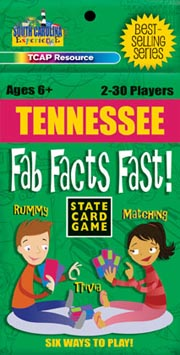 Tennessee Fab Facts Fast Card Game