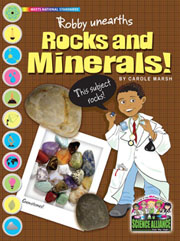 Robby Unearths Rocks and Minerals
