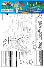 USA Map FunSheet - Pack of 30