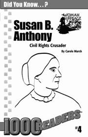 Susan B. Anthony: Civil Rights Crusader Consumable Pack 30