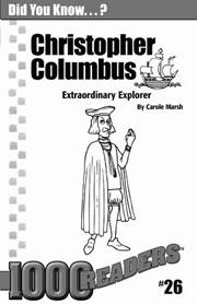 Christopher Columbus: Extraordinary Explorer Consumable Pack 30