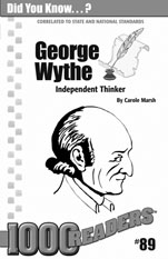 George Wythe: Independent Thinker Consumable Pack 30