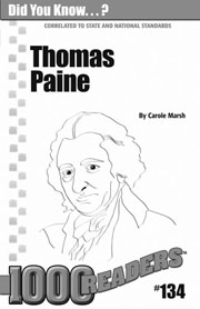 Thomas Paine: Author of Common Sense Consumable Pack 30