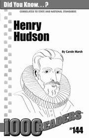 Henry Hudson: Explorer and Adventurer Consumable Pack 30