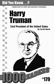 Harry Truman: 33rd President of the United States Consumable Pack 30