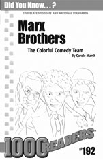 Marx Brothers: The Colorful Comedy Team Consumable Pack 30