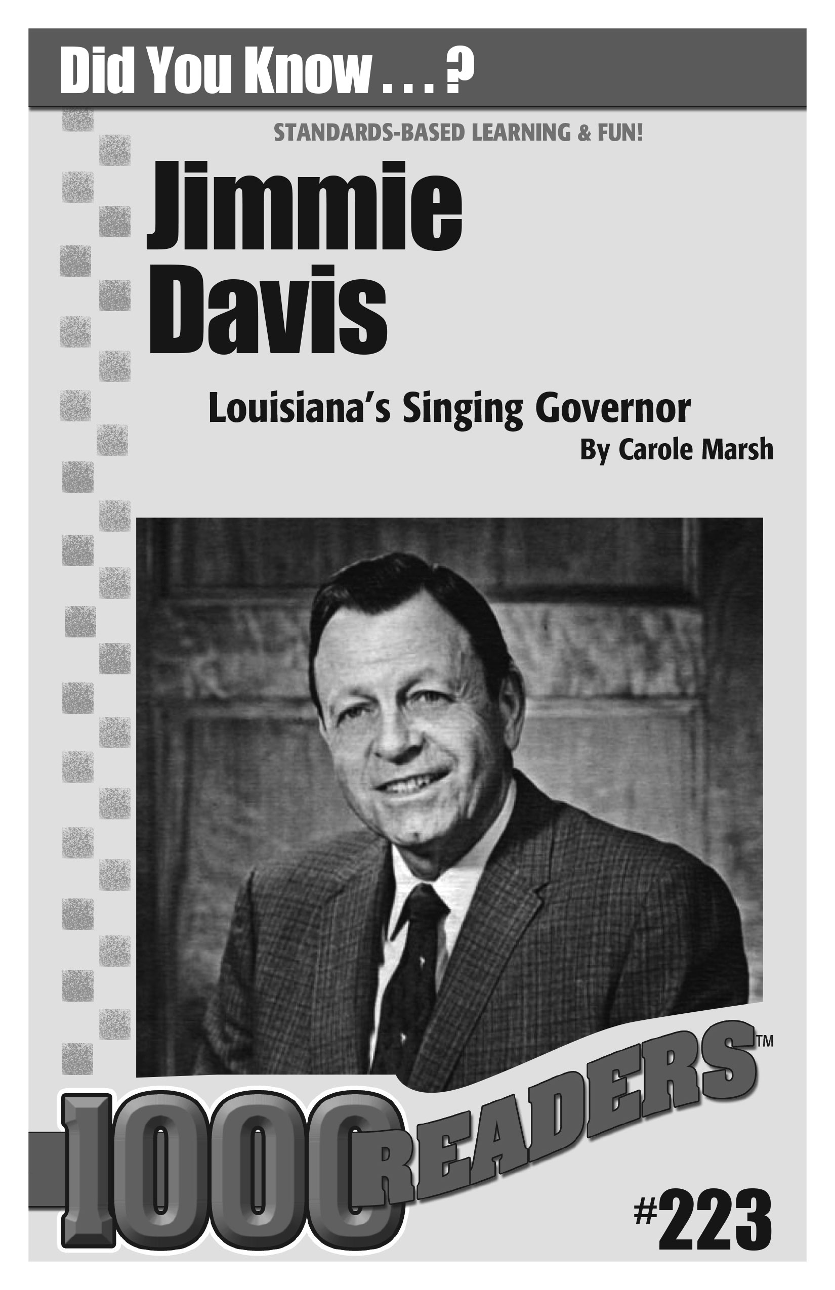 Jimmie Davis: Louisiana's Singing Governor Consumable Pack 30