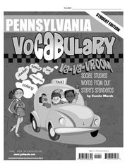 Pennsylvania Vocabulary: Va-Va-Vroom! Social Studies Words From Our State's Standards-Student Book